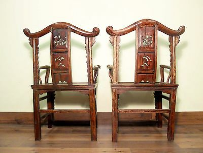 Antique Chinese Arm Chairs High Back (5606) (Pair), Circa 1800-1849 11