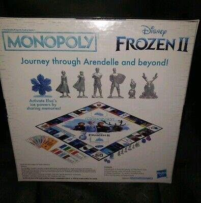 Monopoly Game Disney Frozen II Edition Journey through Arendelle and Beyond New 2