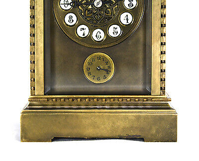 French Style Petite Sonnerie Striking Quarter Repeater Brass Carriage Clock 6