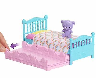 Barbie Bunk Bed Trundle Furniture Doll Playset New Mattel