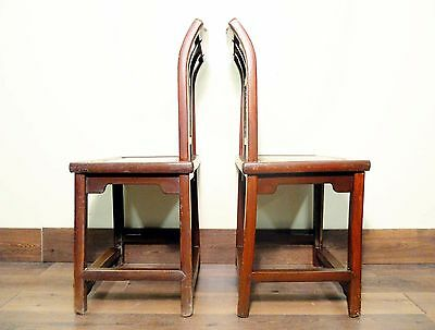 Antique Chinese Ming Chairs (5435) (Pair), Zelkova Wood, Circa 1800-1949 10