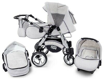 Passeggino TRIO Baby Carrozzina 3in1 Seggioliono OVETTO AUTO GagaDumi Urbano 2