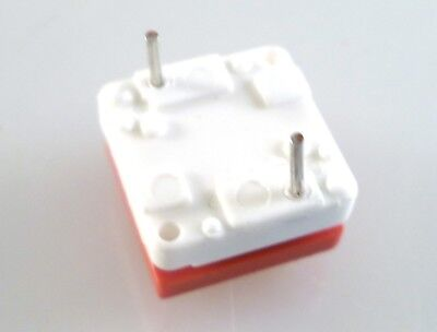 ITT Cannon MDP S NSG Push To Make Button Switch PCB Mount SPST Red Cap OM0783D 4