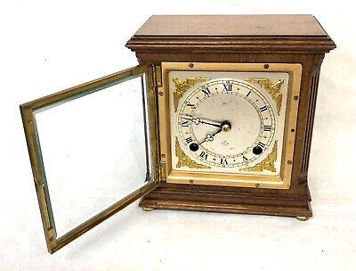 ELLIOTT LONDON Walnut Bracket Mantel Clock : Strikes Hours & Half Past 4