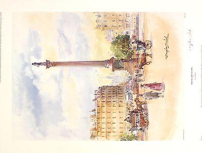 "DOUGLAS WEST ""Trafalgar Square"" london nelson SGD LTD! SIZE:47cm x 36cm NEW RARE 2"