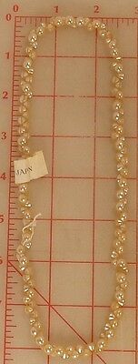 "4,320 vintage 6mm tiny glass shank buttons ivory pearl Japan 1/4"" beads doll"