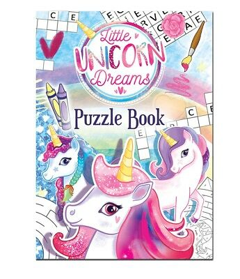 UNICORN PUZZLE BOOKS Kids Birthday Party Bag Filler Favors Jigsaw Pony Toy Gift
