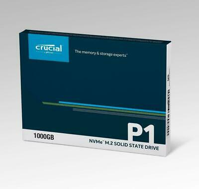Crucial 1TB SSD P1 M.2 PCIe NVMe 3D NAND Internal Solid State Drive 2000MB/s 3