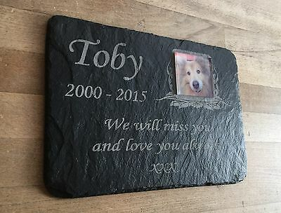 Pet Photo Memorial Slate Plaque  Personalised for your loved pet including photo 5