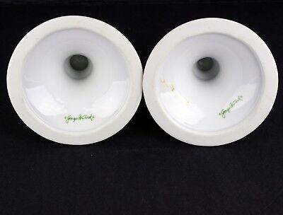 Georges Briard Porcelain CANDLESTICKS Birds 6