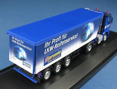 Herpa Mercedes AROCS Kipper 1:87 NEU Werbemodell Premio LKW-Reifen-Service