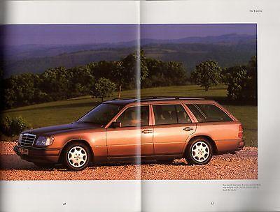 MERCEDES-BENZ E-CLASS W124 Estate 1993-96 UK Market Brochure 200 220 280  320 300