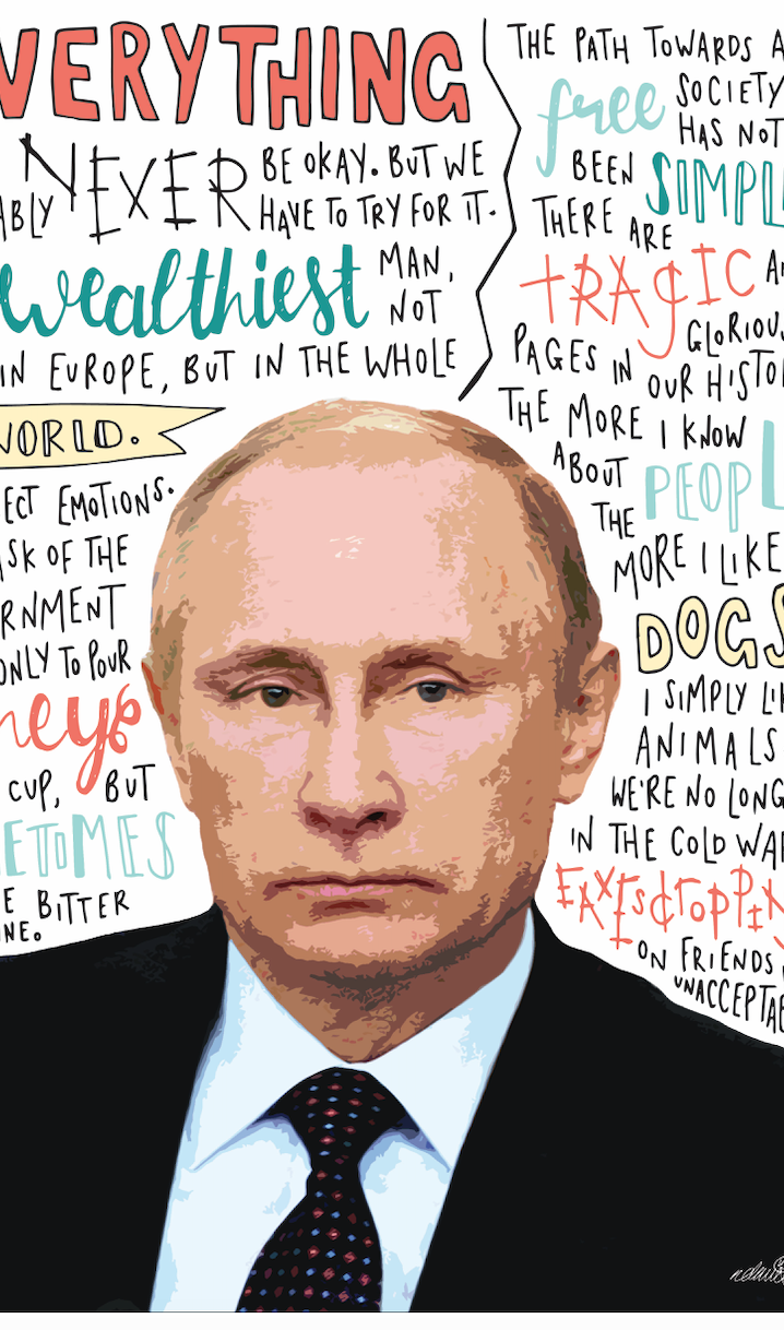 Vladimir Putin INSPIRED WALL ART Print Poster A4 A3 Russian President Quotes