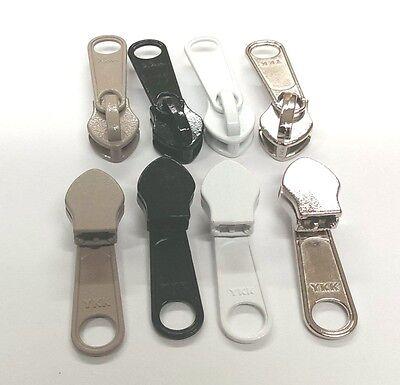 YKK #10 Coil Zipper /& Slider WHITE BLACK BEIGE GRAY Marine ZIPLON Outdoors 10CF