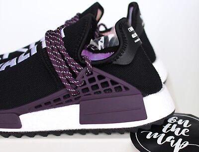 classic fit 537f6 8e60e ADIDAS PHARRELL HUMAN Race HU Holi NMD Trail Black Purple UK 5 7 8 9 11 US  New