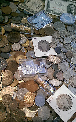 ☆ 100 Coin Lot From Old Estate Hoard! ☆ GOLD .999 SILVER BULLION Proof Roman ☆