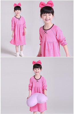Girls Kids Children Pyjamas long sleeve Nightwear Cotton Night Dress Nightie 11