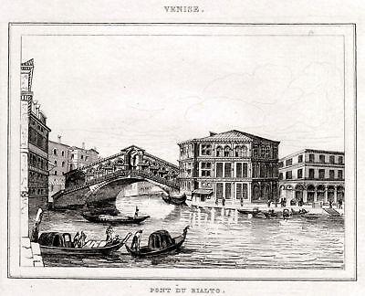 Lombardo-Veneto Passepartout.1838 Padova: Piazza dei Signori Steel engraving