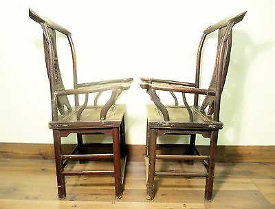 Antique Chinese High Back Arm Chairs (5701), Circa 1800-1849 10