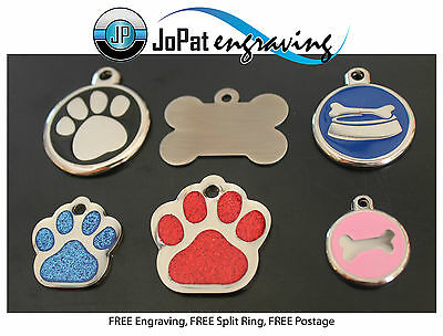 Deluxe Pet Tag Pet ID Dog Kitten Puppy Cat Name Pet Tags Personalised Engraved 2