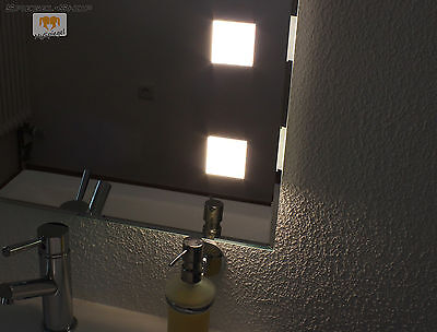 FORTE CUBE II BAD WAND KRISTALL SPIEGEL BELEUCHTET SATINIERT LED 100 x 60 CM