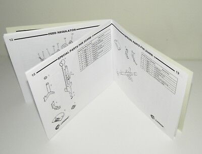 CONSEW 206RB 204RB 208RB Sewing Machine Parts List Manual Reproduction