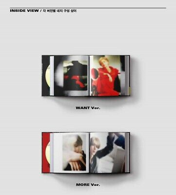 K-POP SHINEE TAEMIN 2nd Mini Album [WANT] MORE Ver. CD+Booklet+Photocard+Paper