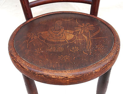 Art Nouveau Child Chair Fichel Bentwood Print Seating Factory Label 6