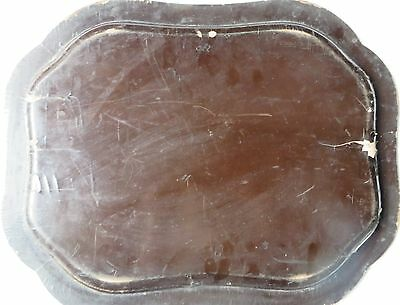 Antique BLACK LACQUER Gold PAINTED Wood Serving Tray Mughal ISLAMIC Persian 6