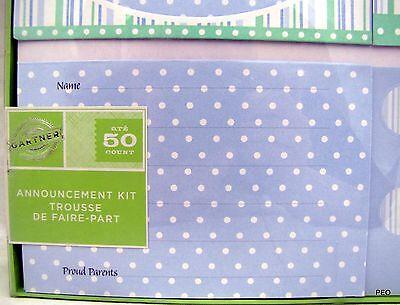 Gartner Baby Girl Pink Magnet Announcement Kit 50 Invitations Cards Shower 68016