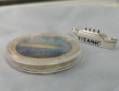 Titanic 3D Silver Ship on Gold Coin Sank 1912 Atlantic Ocean Photo Movie Toy USA 8