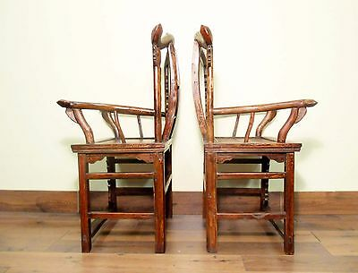 Antique Chinese Arm Chairs High Back (5606) (Pair), Circa 1800-1849 12