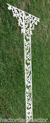 SALE 2 Antique Cast Iron Corbels Oak Leave Acorn Swag Chic Architectural Salvage 11