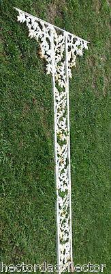 SALE Antique Architectural Salvage Cast Iron Pediment Oak Leaves Acorn Swag Chic 5