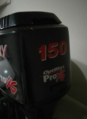 Mercury Optimax Pro Xs Outboard Engine Decals sticker silver /& red