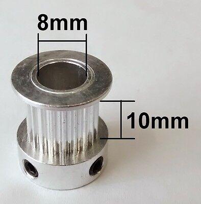 3D Printer GT2 10mm Wide Timing Belt and Pulleys - 20 Teeth 8mm Shaft - Reprap