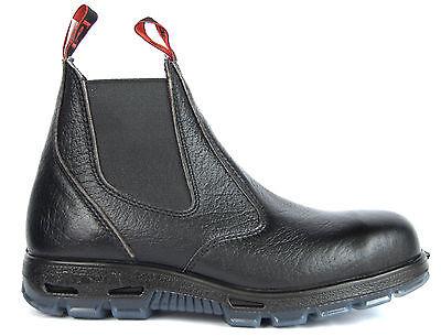 Redback Work Boots  Easy Escape Steel Toe Black Rambler Leather Slip On USBBL 2