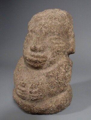 Costa Rica Nicoya Carved Stone Anthropomorphic Idol Statue ca. 500-800 AD 5