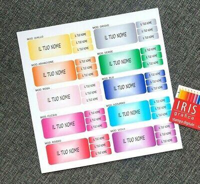 Kit 20+150 Etichette Personalizzate Scuola Con Il Tuo Nome 7