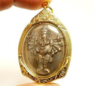 Ganesha Ganesh Om Aum God Sign Ganapati Vinayaka Hindu Thai Amulet Gift Pendant