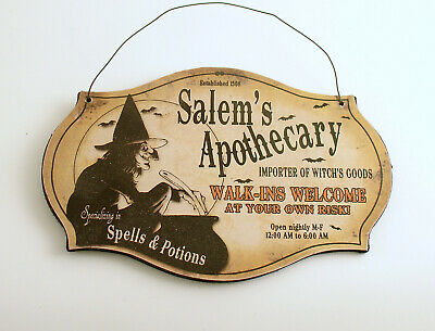 Halloween Decoration Halloween Sign Witch Potions Spells 2