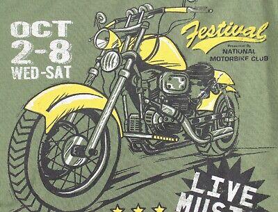 ST EVE Boys PYJAMAS Long Sleeve Top Fleece Bottoms GREEN BLACK Motorbike 5-6 Yrs 7