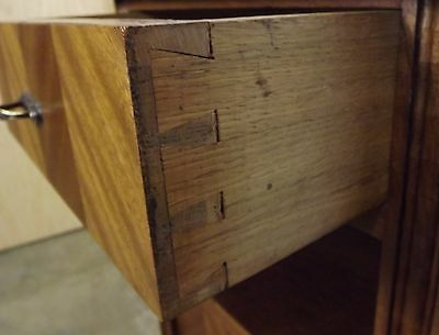 Superb Continental Marble-Topped Bedside Cabinet Birch With Walnut Veneers 5