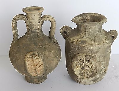 Biblical Ancient Antique Holy Land Roman Herodian Pottery Clay Wine Jugs Pitcher 2