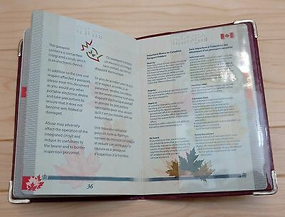 Canadian Canada Plastic Vinyl Passport Cover Protector Holder Sleeve - Red 3