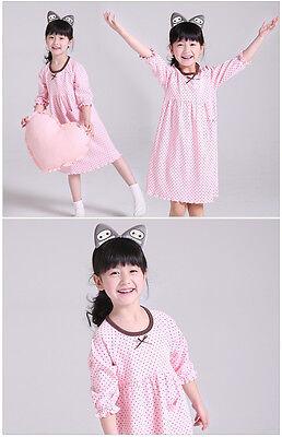 Girls Kids Children Pyjamas long sleeve Nightwear Cotton Night Dress Nightie 12