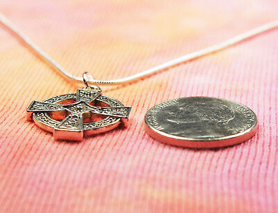 Celtic Cross Necklace, Equal Armed Square Greek Circle Charm Pendant Gift Box 3