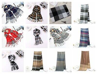 20 scarves discount pashmina men unisex plaid checked wholesale shawls 2