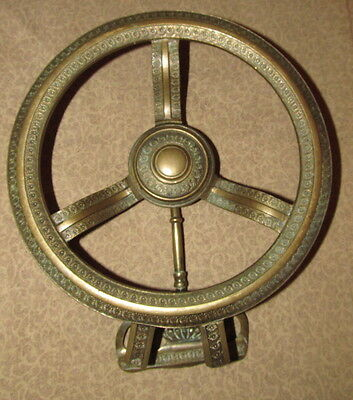 Antique French Bronze Fireplace Hanging Trivet 5
