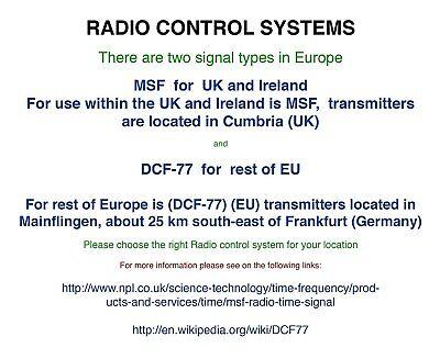 Jumbo LCD Radio Controlled MSF  Digital   Wall Clock ( UK &  Ireland  Version )